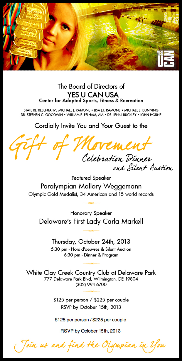 Yes U Can USA Gift of Movement Dinner 2013