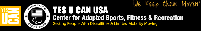Yes U Can USA |  Center For Adapted Sports, Fitness & Recreation Logo